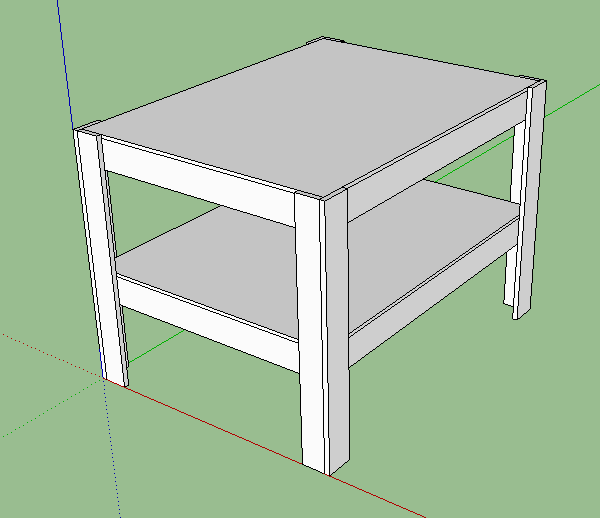 Sketchup plans michael ahokas for Table design sketchup